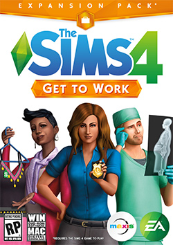 Expansion Pack The Sims 4 Get to Work box