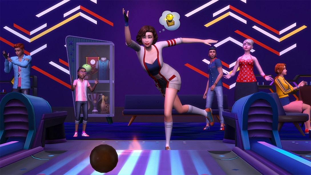 Download stuff pack The Sims 4 Bowling Night Stuff