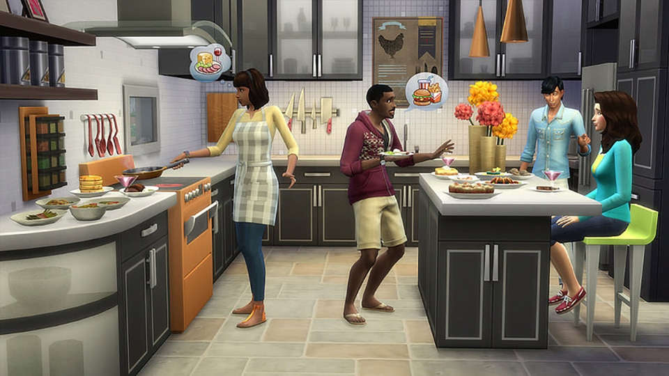 Download stuff pack The Sims 4 Cool Kitchen Stuff