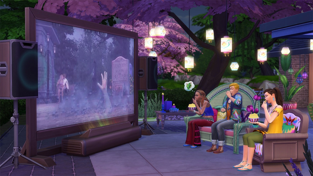 Download stuff pack The Sims 4 Movie Hangout Stuff