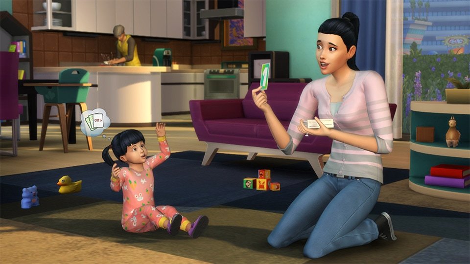 Free toddlers update for The Sims 4
