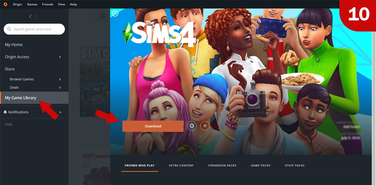 Download Sims 4 games at MMOGA - Step 10